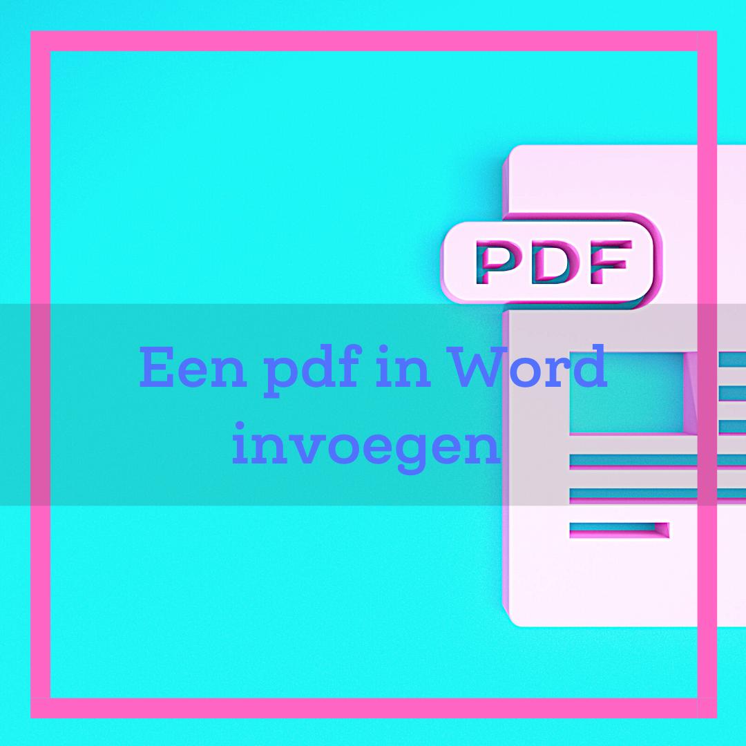 pdf in word invoegen