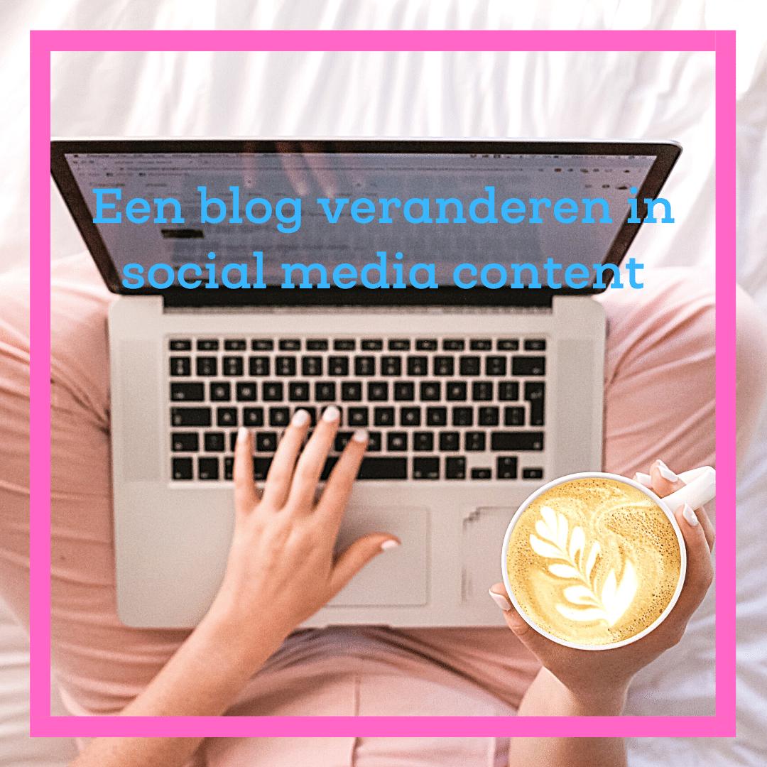 een blog veranderen in social media content